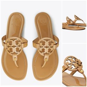 Tory Burch Miller Sandal Patent Leather Sand 6 36